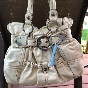 Kathy Van Zeeland stone leather bag NEW
